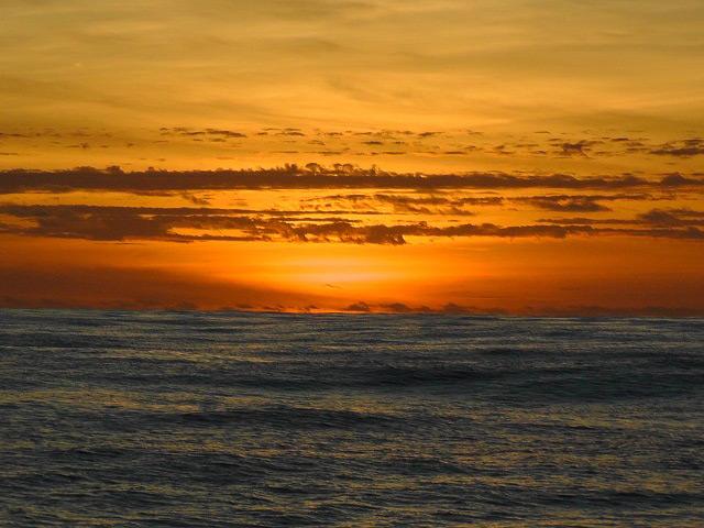 Sonnenaufgang auf dem Nordatlantik