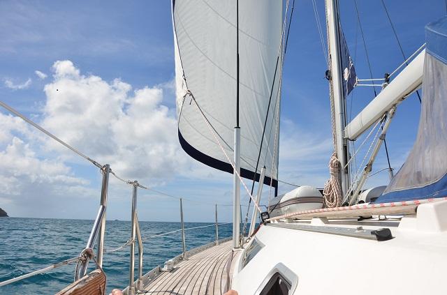 in der Karibik gibt es immer Wind