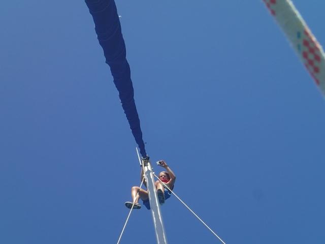 mal-wieder-Arbeit-am-Mast-oben