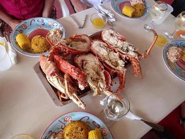 und hier der Lobster serviert