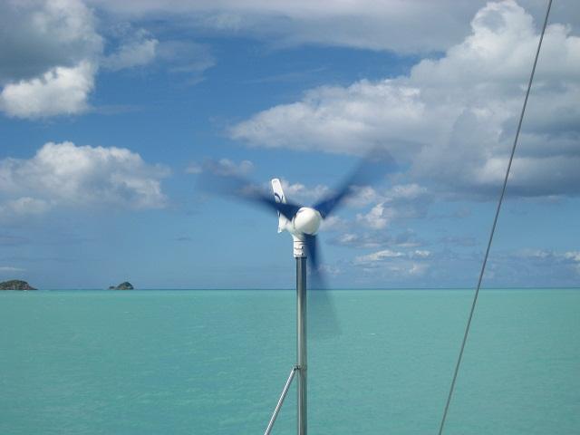 wenigstens einer arbeitet...... der Windgenerator