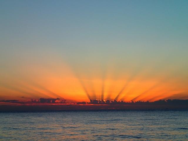Sonnenuntergang vor Anker