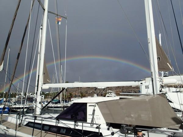 Regenbogen über Puerto Calero