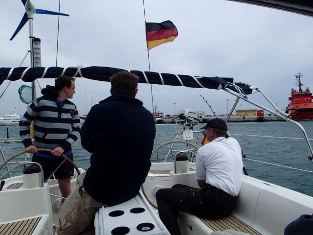 Skippertraining in Palma de Mallorca - wir üben Anlegen