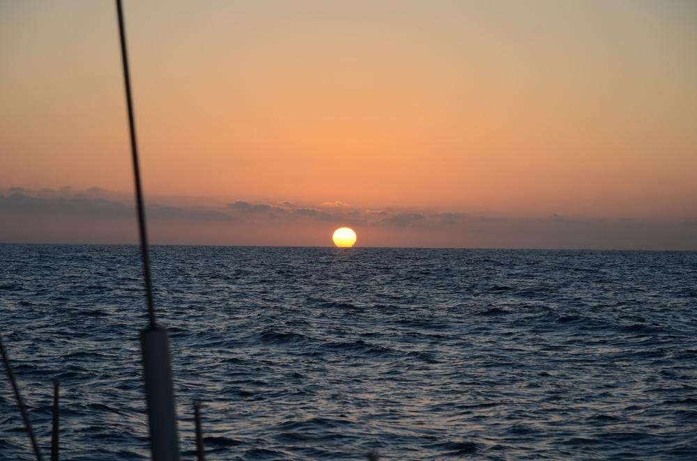 Wir machen uns für die erste Nacht auf See klar