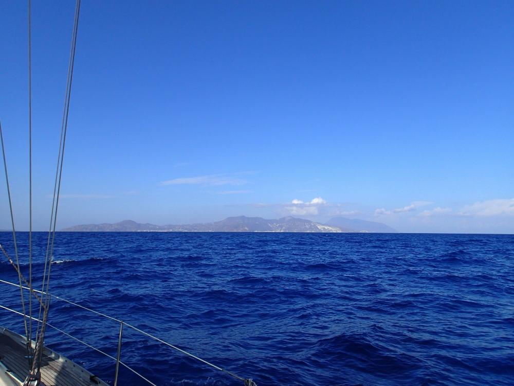 Die Liparischen Inseln liegen recht voraus