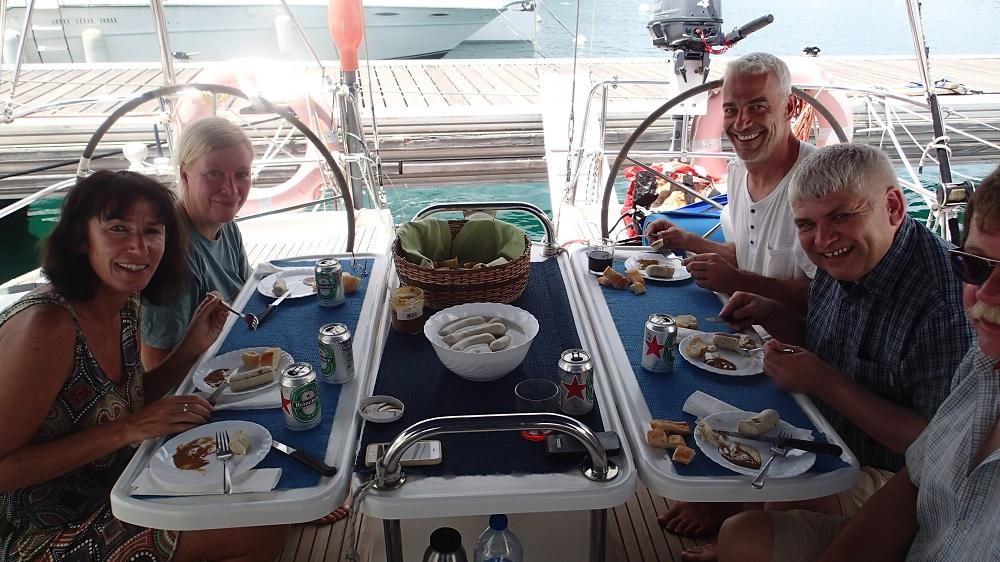 Es ist geschafft – dank Anke Weißwurst-Frühstück in der Karibik