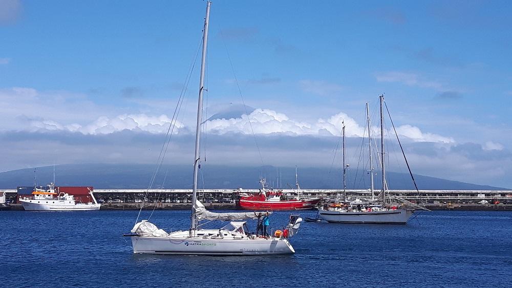 Einige Tage vor uns starten die Franzosen Richtung Bretagne. Sie werden trotz Kollision mit einem Wal wohlbehalten ankommen