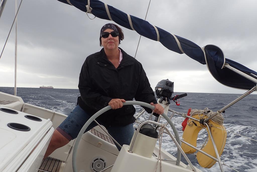 Kräftiger Wind am vorletzten Törntag in der Bucht von Palma