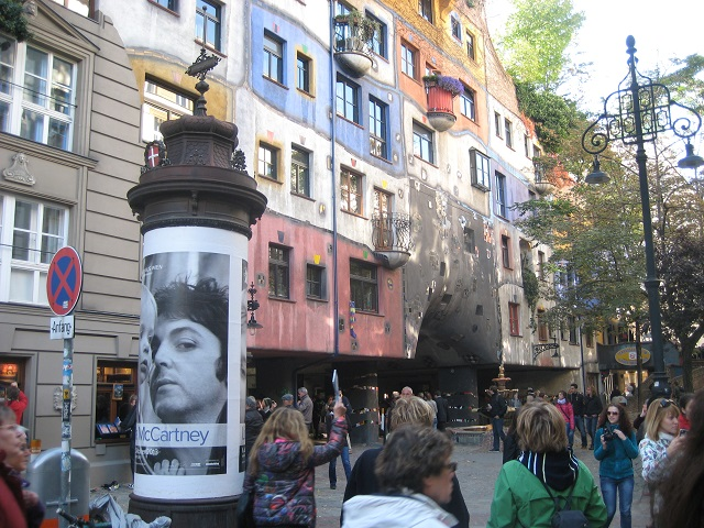 kurzer Ausflug nach Wien - Hundertwasser Haus, Mc.Artney Ausstellung und Peter Gabriel Konzert