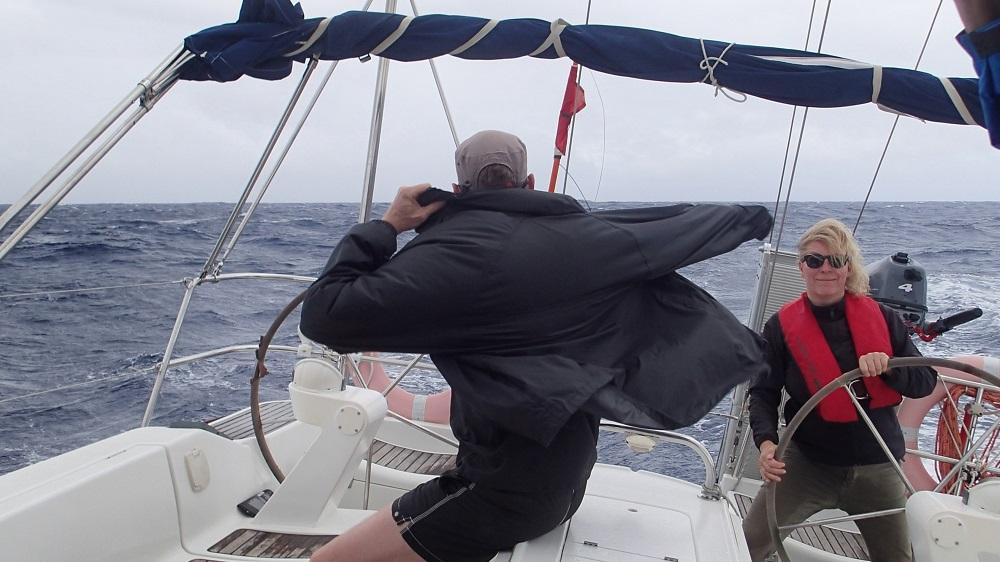 Herausforderung Jackenwechsel bei Windstärke 7