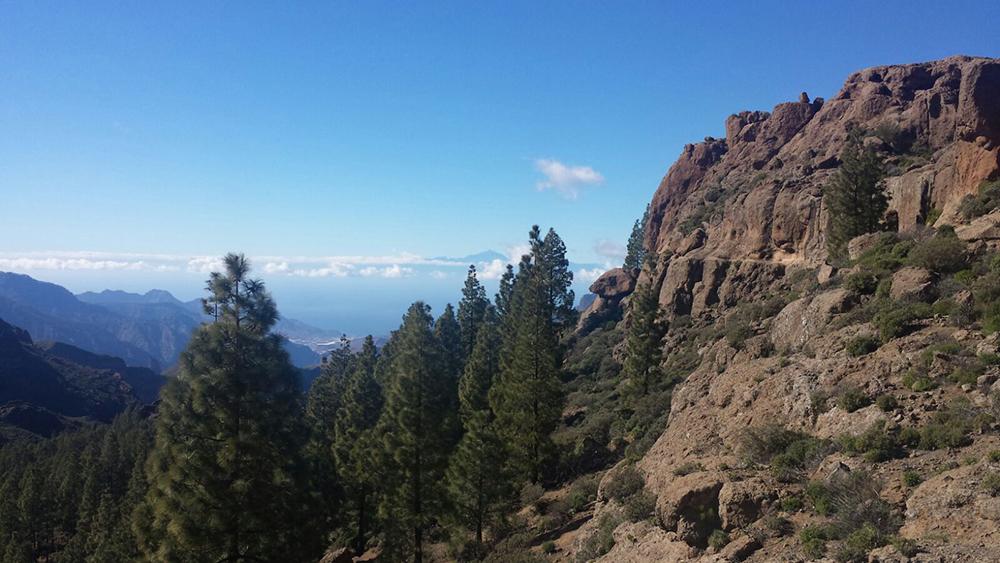 Landausflug auf Gran Canaria - in der Ferne der Teide, der höchste Berg Spaniens