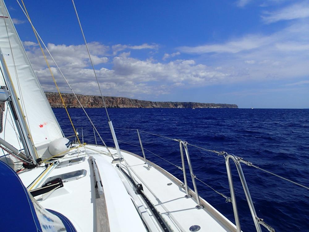 Herrliches Thermiksegeln in der Bucht von Palma