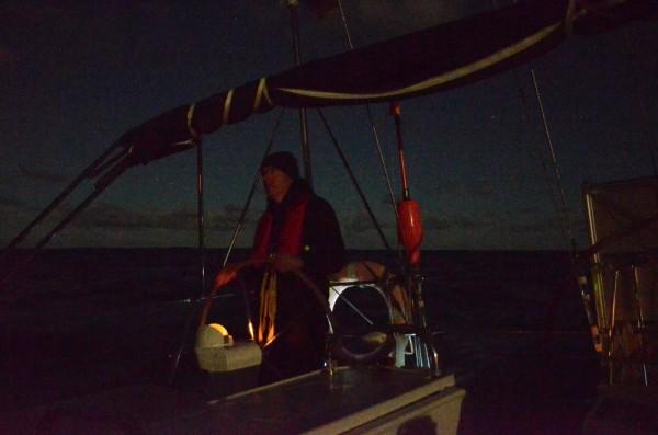 Nachtfahrt auf dem Weg nach Lanzarote
