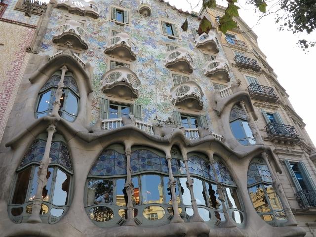 Kunst von Gaudi in Barcelona