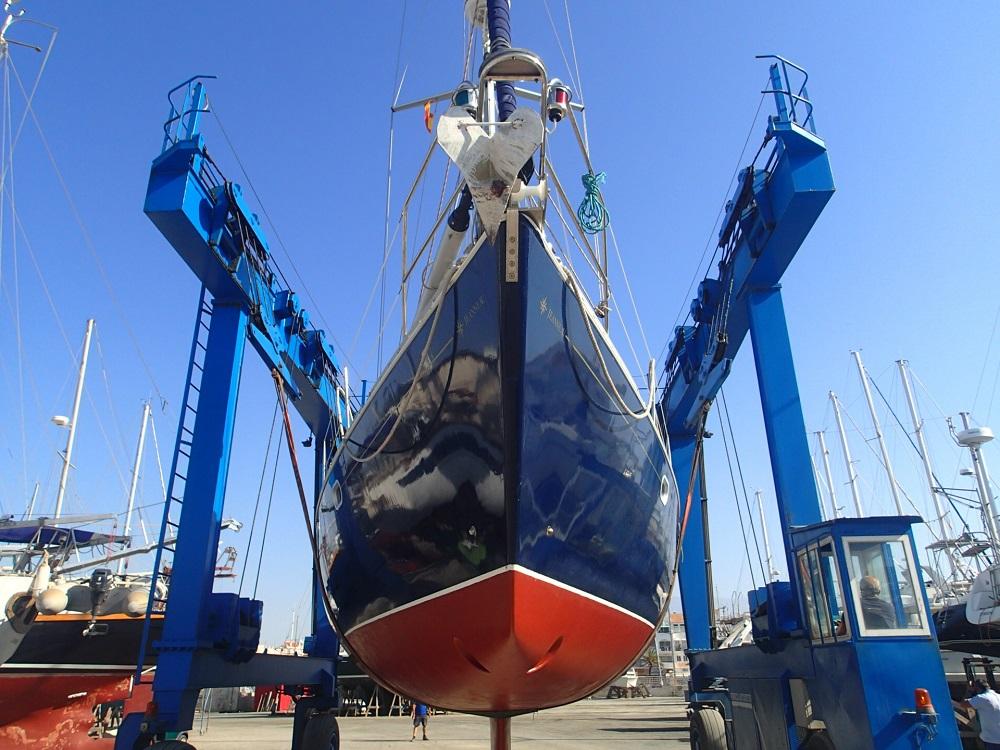 """Beide Schiffe machen """"Werfturlaub"""", unsere Habib Sanna (hier im Bild) in Korfu, die InsPIRATion in Almerimar"""