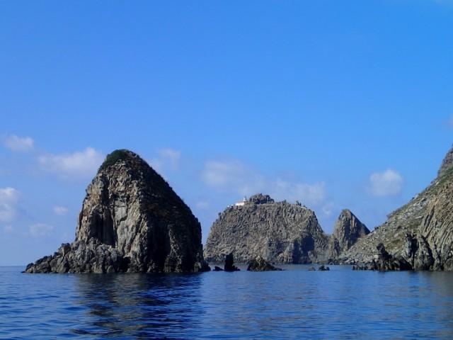 Landschaft bei den Pontinischen Inseln