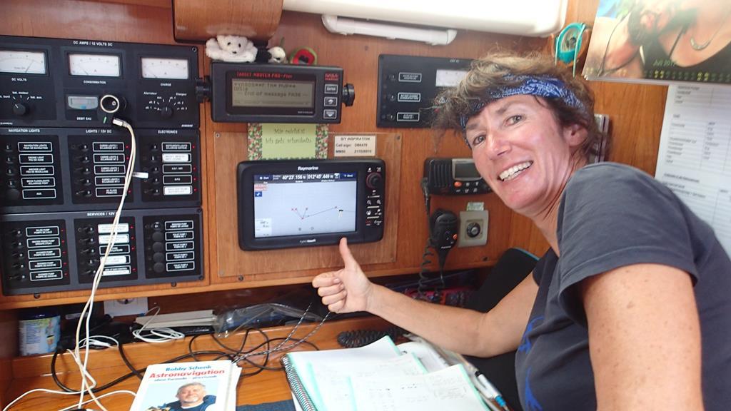 And the winner is… - Karin hatte das beste Ergebnis bei der Astronavigation, 1,9 sm neben der GPS Position