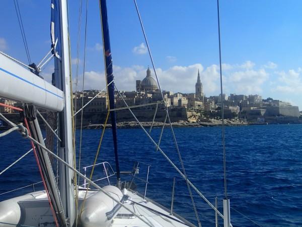 Die Ansteuerung von Valletta - sehr beeindruckend