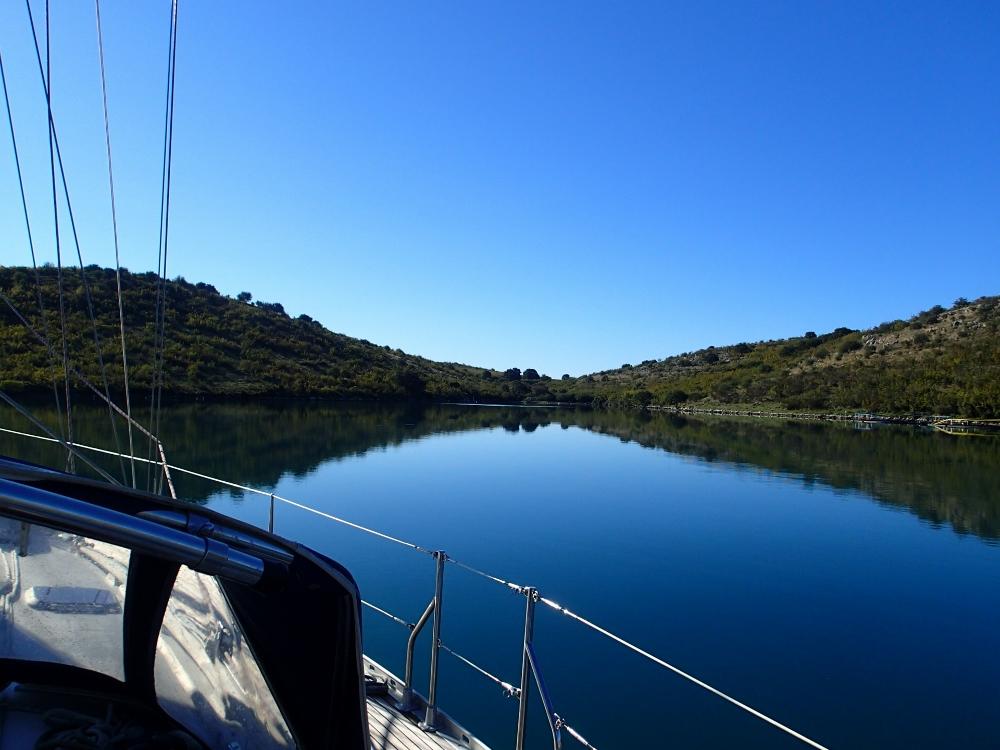 Die perfekte Ankerbucht bei Korfu