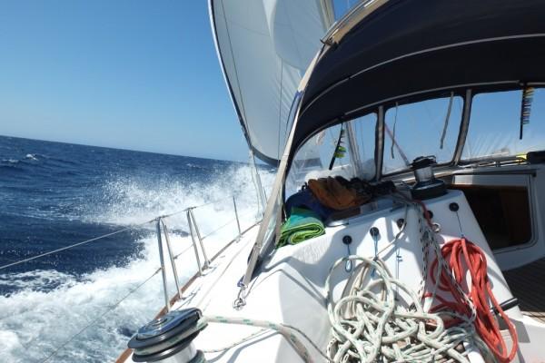 Guter Wind bei Sardinien