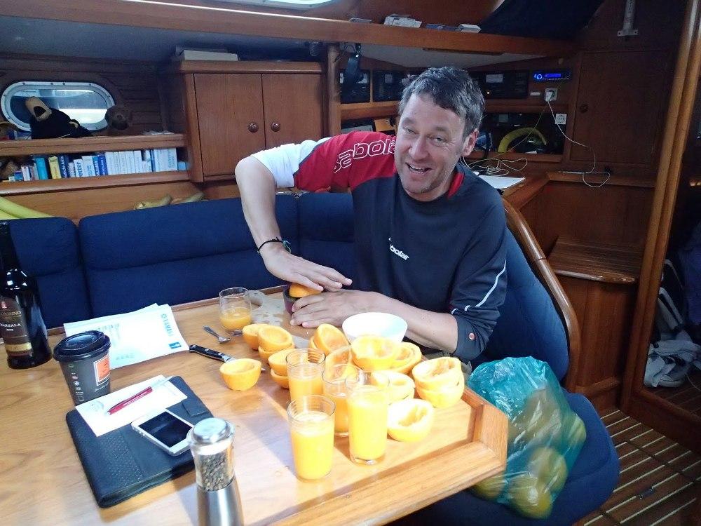 Toll, in dieser Woche gab´s jeden Tag frisch gepressten Orangensaft