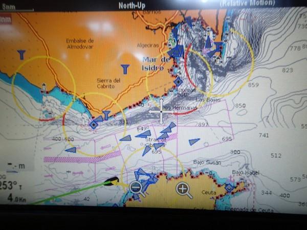 """Die Meerenge von Gibraltar – das AIS sagt """"Viel los"""""""
