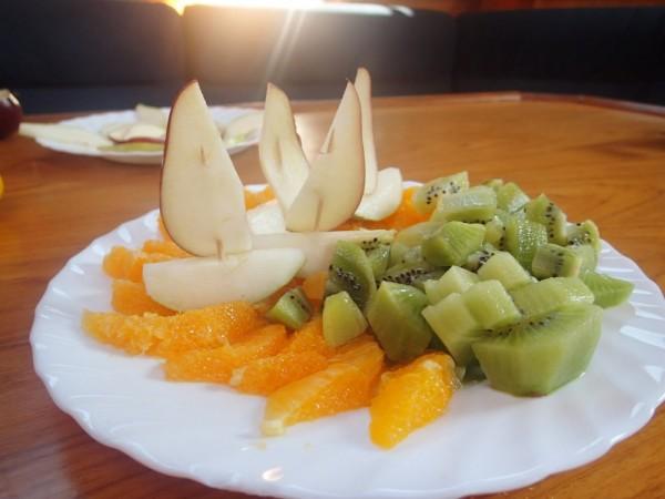 Obsttellerschiffchen