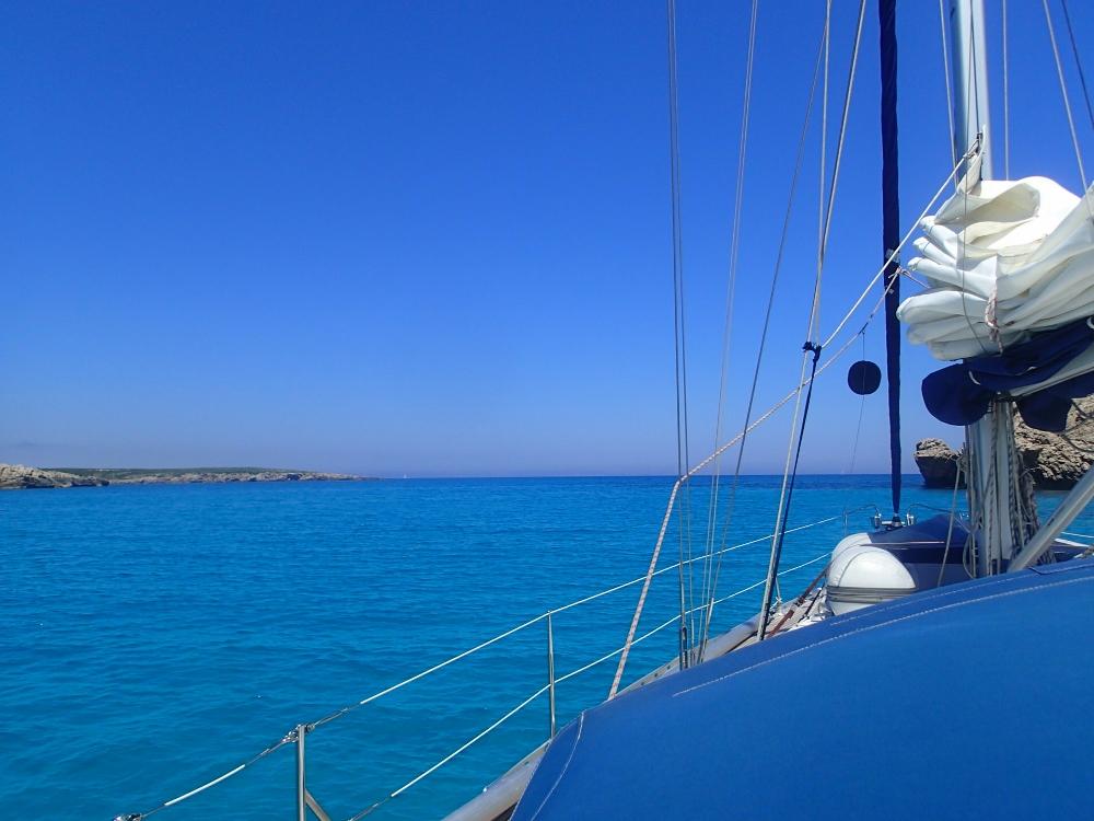 Vor Anker bei Menorca