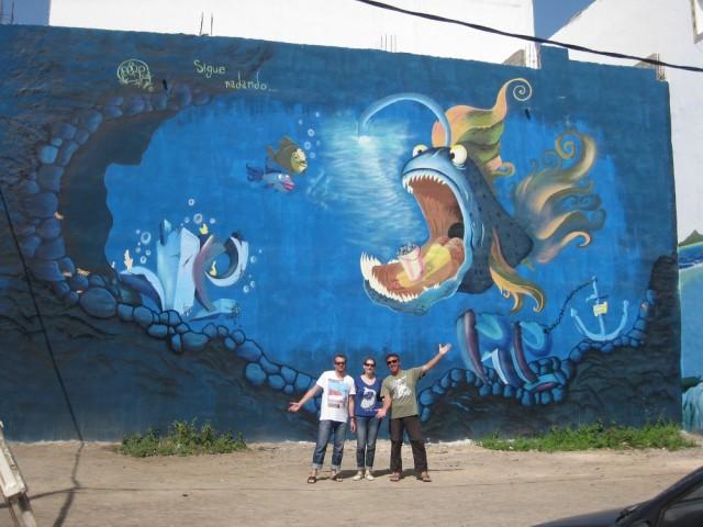 Kunst an der Hauswand in Gran Tarajal