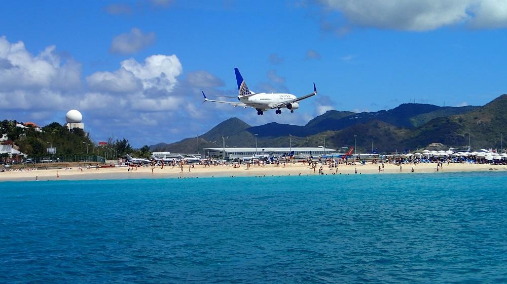 Spektakulärer Flughafen auf Sint Maarten