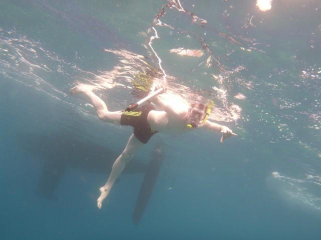 Schnorchelspass in der Ankerbucht (oder Neptuns Rache)