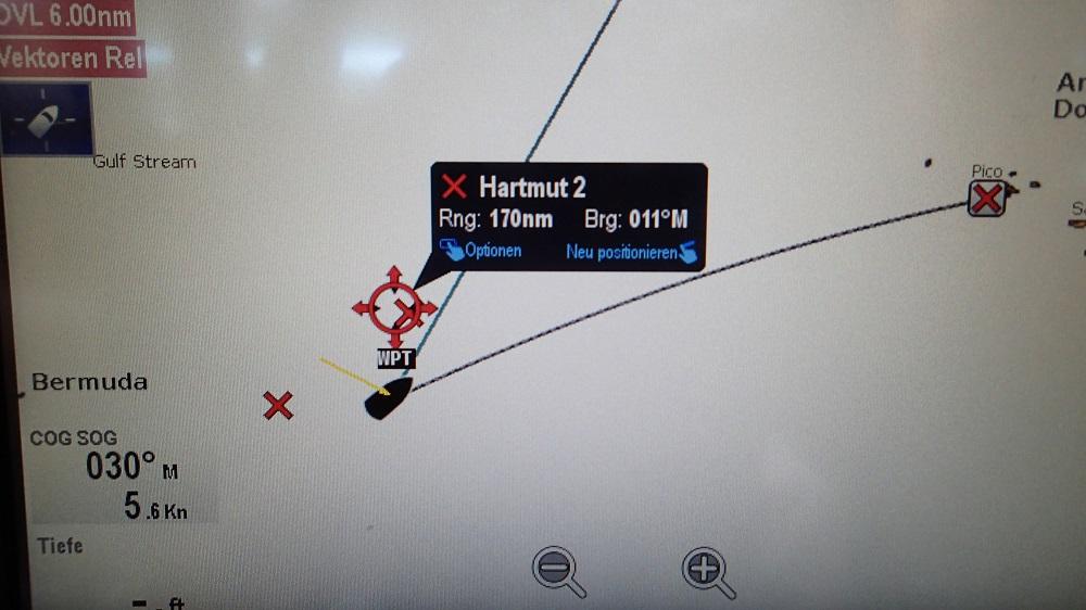 Unser Wegpunkt Hartmut 2 ist unser nächstes Etappenziel