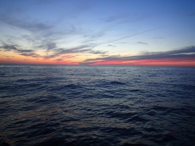 Erste Nacht auf See Richtung Korsika
