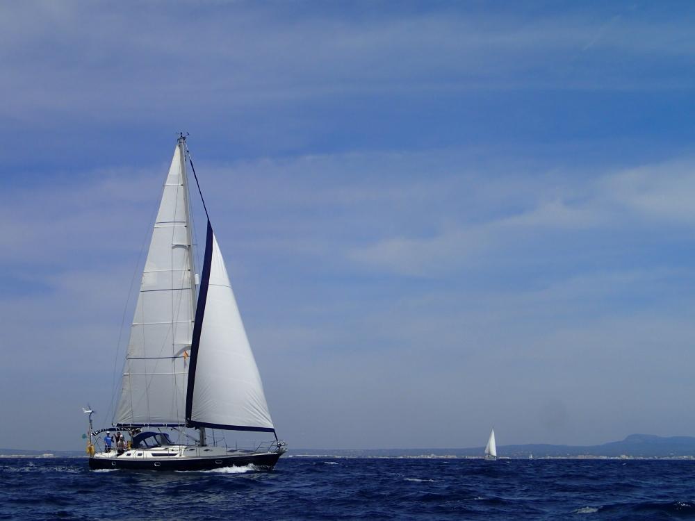 Die Habib beim Manövertraining vor Mallorca