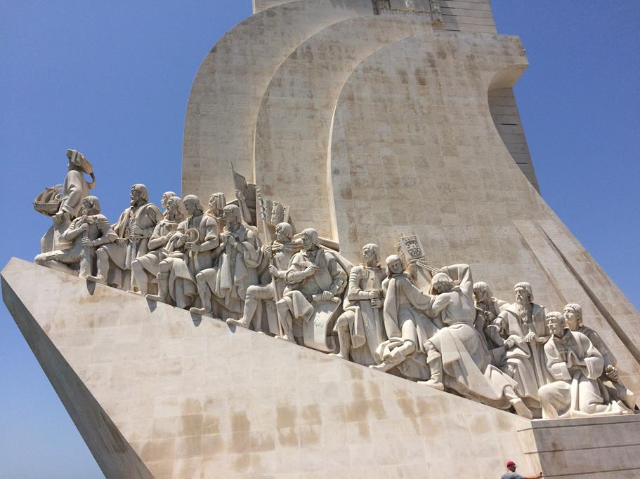 Das Denkmal Heinrichs des Seefahrers – der imposante Anblick hat uns schon bei der Einfahrt nach Lissabon beeindruckt