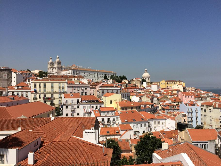 Wundervoller Blick auf Lissabon