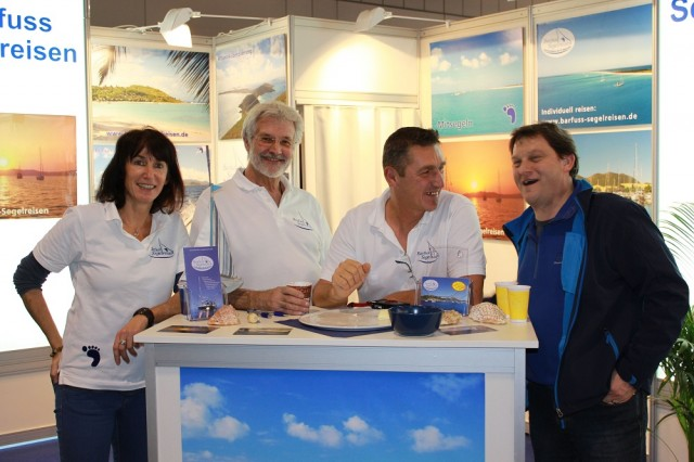 Barfuss Segelreisen auf der boot 2014 in Düsseldorf