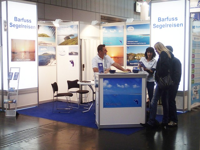 Barfuss Segelreisen auf der boot 2014 in Düseldorf