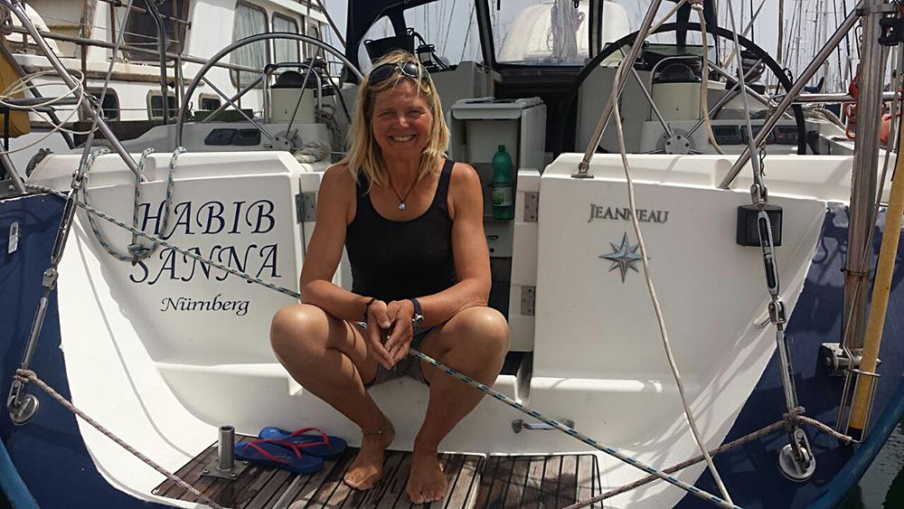 Monika ist mit unserer Habib wieder gut von den Kanaren im Mittelmeer angekommen