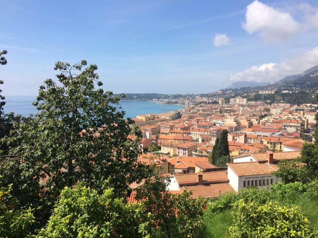 Herrlicher Blick auf die Côte d'Azur