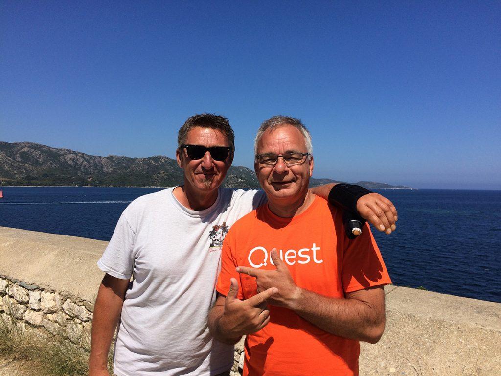 Nochmal Danke an unseren lieben Mitsegler, der Jörg zur Hand-OP quer durch Korsika gefahren hat