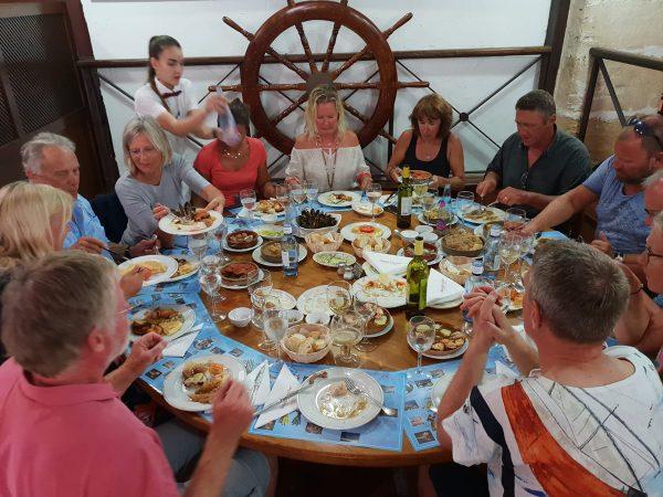 "Wunderbares Abschlussessen in unserem Lieblingslokal ""Bodega des Port"" in Alcudia"