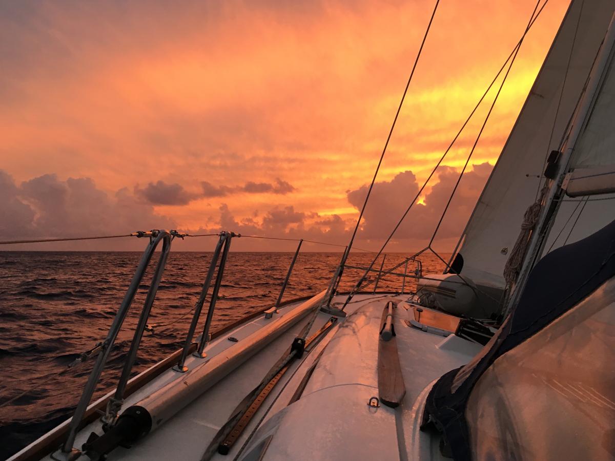 Herrliche Abendstimmung auf dem Atlantik