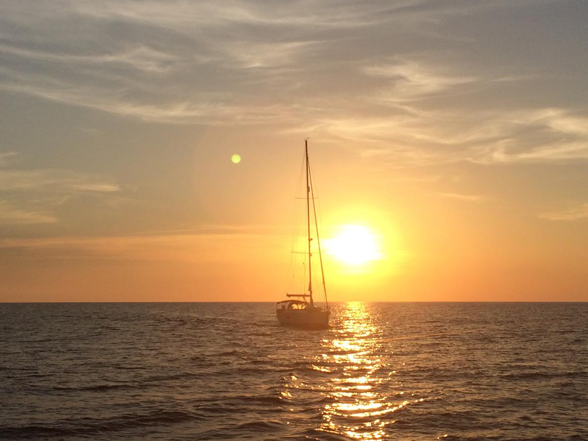 Sonnenaufgang kurz vor Almerimar