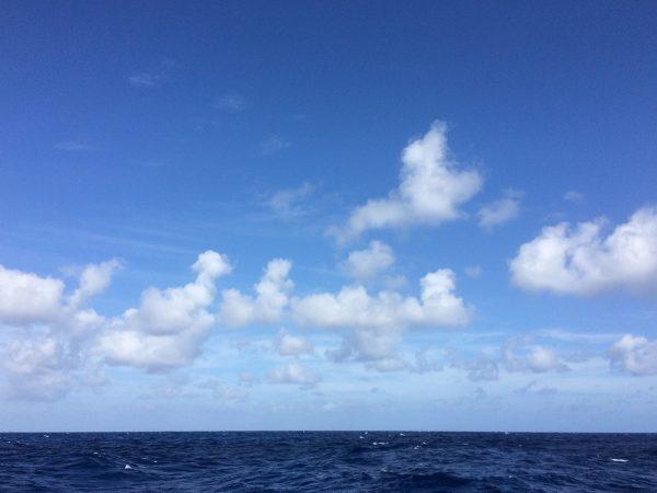 Angekommen im Passat, das typische Wolkenbild