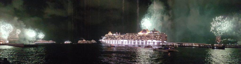 Das Sylvesterfeuerwerk im Hafen von Funchal ist umwerfend