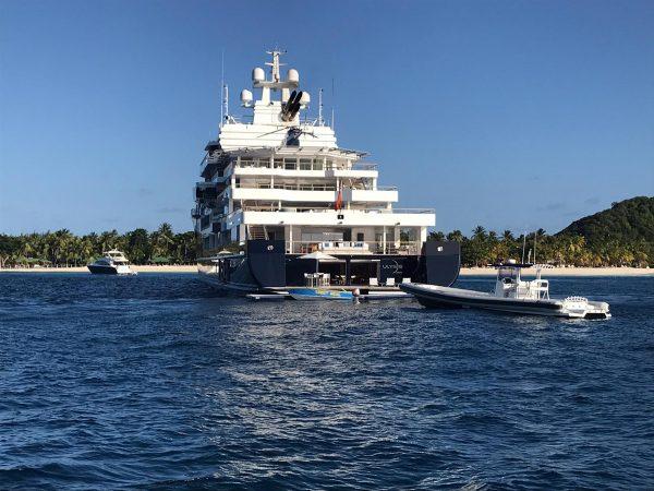 Die Yacht von Marc Zuckerberg ist auch in den Grenadines unterwegs