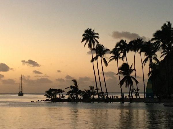 Schöne Abendstimmung in der Marigot Bay