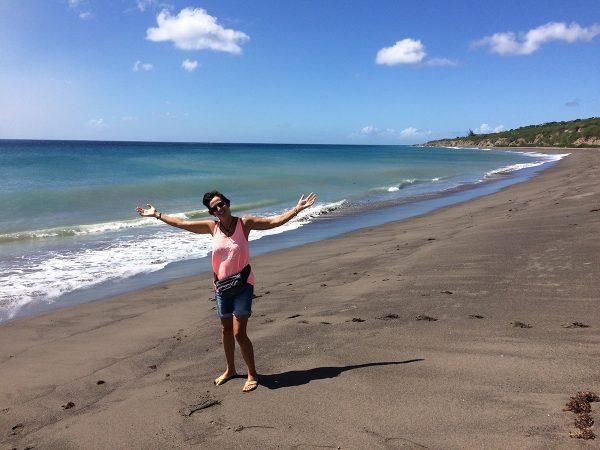 Die Ka am neuen Strand. Entstanden durch den Vulkanausbruch